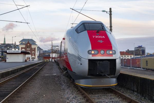 Tog på Sørlandsbanen